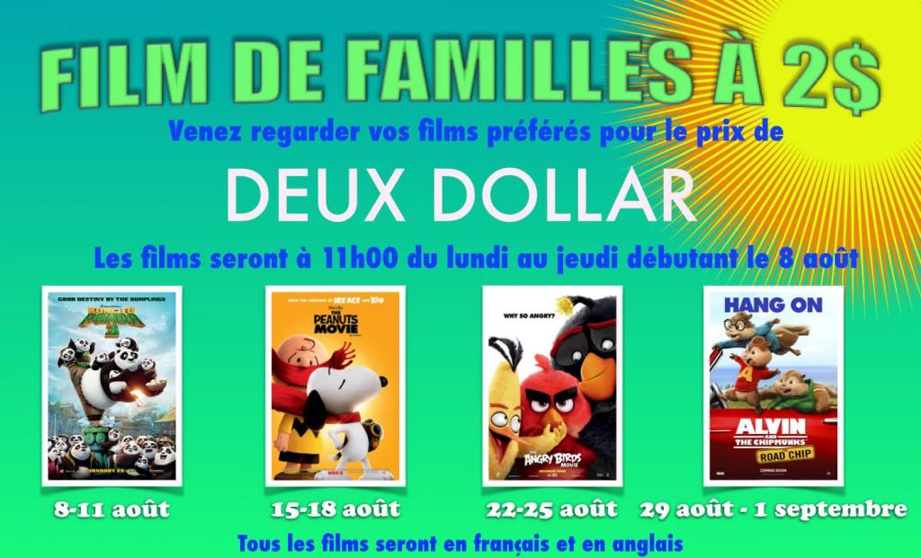 Quel bonne affaire! Tous les films seront en FRANÇAIS et en ANGLAIS!